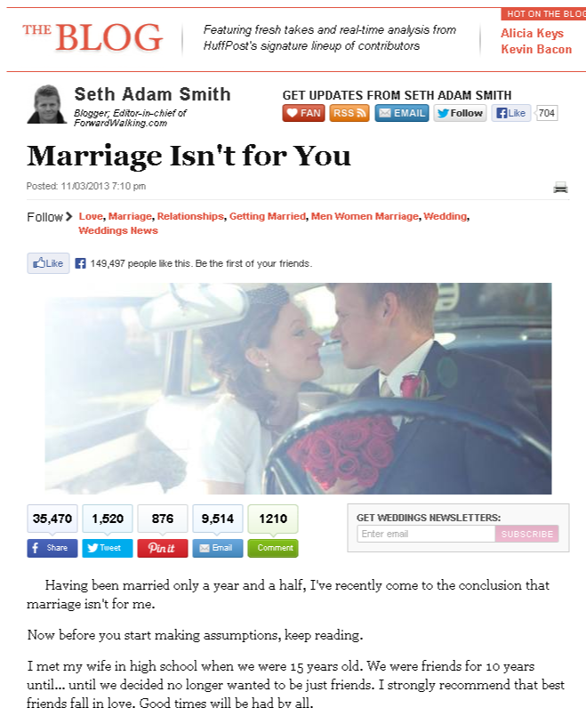 Marriage Isn't for You   Seth Adam Smith