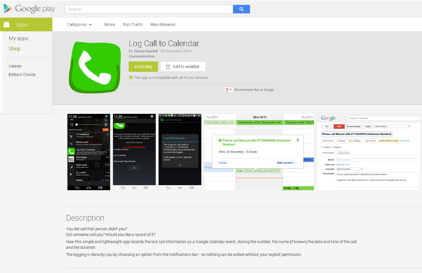 Log Call to Calendar - Android Apps on Google Play