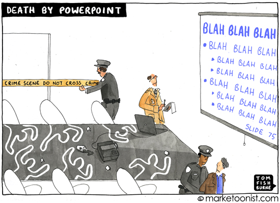Death by Powerpoint - a crime against humanity