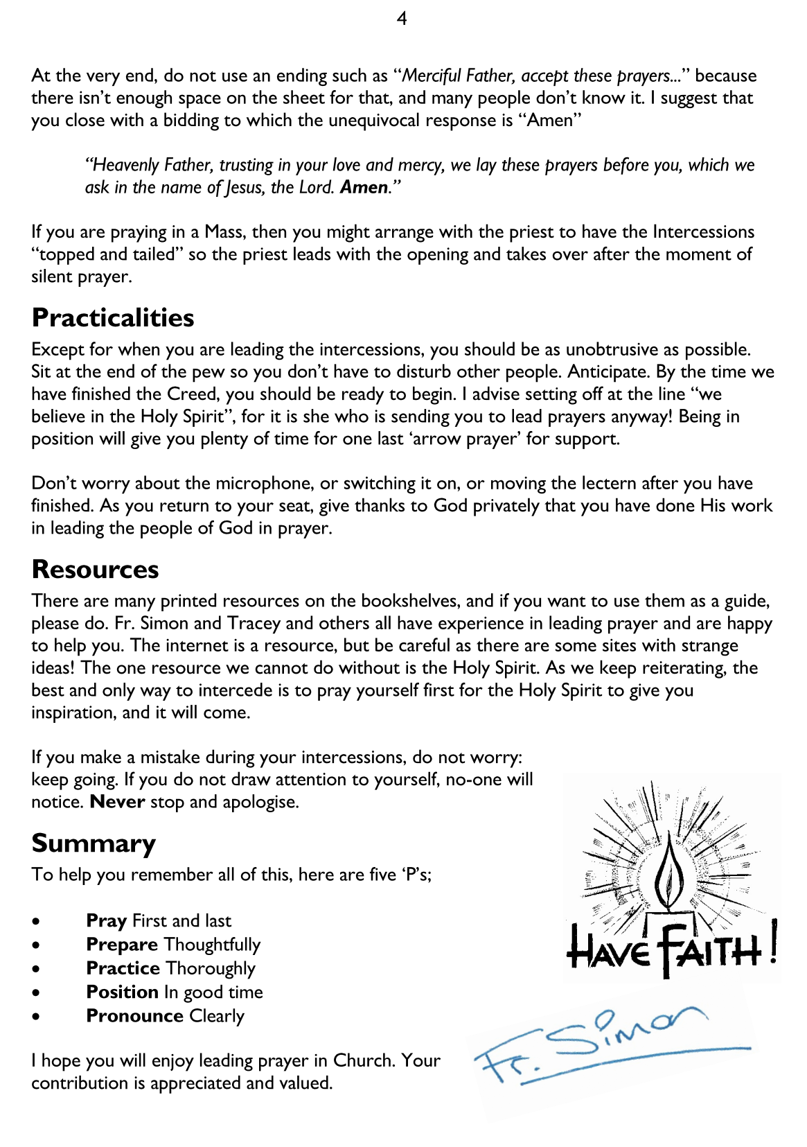 Leading Intercessions in Church – Me Liturgy, You Drains…